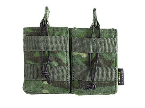 BE-X Offene Magazintasche für CQB, für MOLLE, für 2 G3/M14 Magazine - multicam tropic