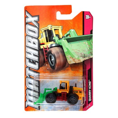 Mattel Year 2011 Matchbox MBX ISLAND Series 1:64 Scale Die Cast Car #1 - QUARRY KING #12 Jones Bros Construction Front End Loader (W4841) by Matchbox (1 Diecast 12 Scale)