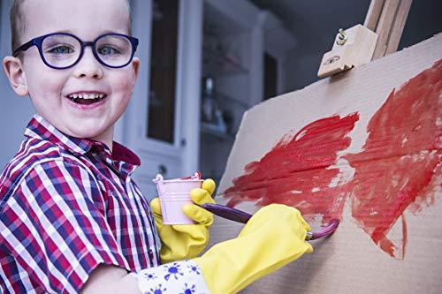 GUBBERLOVES Gummi-Handschuhe für Kinder, gelb, SPLASES XS 6-9YRS