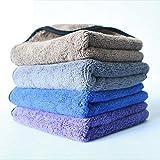 Panni per la pulizia Asciugamano assorbente spessa di Microfiber Asciugamano alto e basso di autolavaggio dell'asciugamano su ordinazione (spessore 12,5mm) perfetto per la pulizia