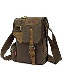 Tradico® Y Green Canvas Messenger Bag Shoulder Satchel Crossbody Bag For Men Boy