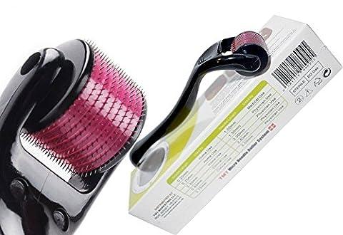 (540Aiguilles) TMT Micro aiguille Rouleau Système Titanium pour les rides, cicatrices, acné, traitement de la cellulite (Plus efficace que régulier 192rouleaux derma aiguille) (1mm)