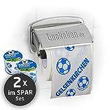 Klopapier Schalker Abpfiff (2 Rollen Sparpack) | Dieses Toilettenpapier Macht Das Klo von BVB-, FCB- & Fußball-Fans zur Schalke-Kultschüssel | Geschenkidee für Männer & Freunde