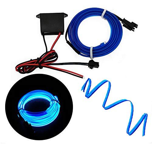 Auto Zierleiste Chrom Zierleisten Trim - Automan flexiblem Innenraum Dekorative Streifen Line DIY (5M, Blau Licht)