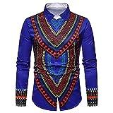 Longzjhd Herren Langarmshirt Shirt Luxus Afrikanisch Gedruckt Stehkragen Pullover Bluse T Shirt Herbst Freizeithemd Vintage Tops Oberteile Streetwear Hemd Outwear Lässige