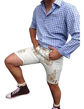 by johanna Trachten-hemden Herren Shirt ob als Freizeithemd,Businesshemd,Oktoberfest Hemd,zur Lederhose,Jeans,...