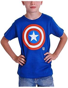 Capitán América Shield niños T-Shirt marca calidad azul algodón, Infantil, azul, 92-98 cm