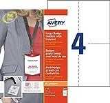 Best Professionnels du logiciel de code à barres - Avery 10 Pochettes Badges Grand Format + 12 Review