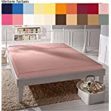 Juego de sábanas de Bassetti Single-jersey, rosa pálido, 180x200 cm - 200x200 cm