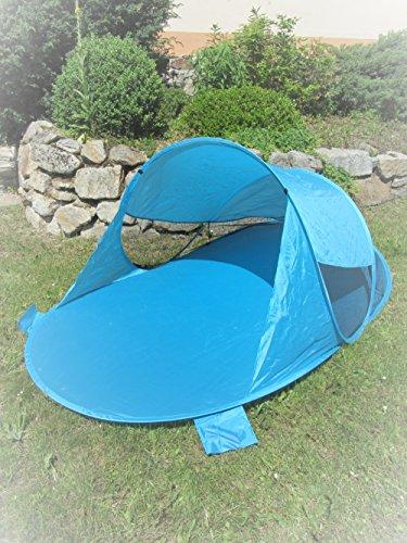 IMC Pop-Up Strandmuschel blau Wurf-Zelt Strand Camping Sonnen-Schutz Wind türkis Pop UP - Zelt Sonne Strand