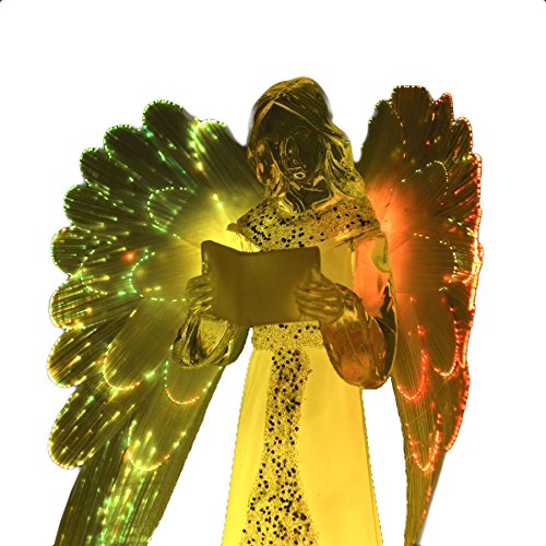 Gifts 4 All Occasions Limited SHATCHI-1017 - Luces LED (21 cm), diseño de ángel