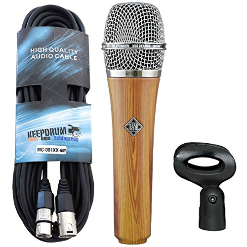Telefunken M80 Oak dynamisches Mikrofon + keepdrum XLR-Kabel