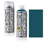Fahrrad Lackspray in versch. Farben - KEINE GRUNDIERUNG notwendig - Acryllack / Lack Spray in 400 ml Spraydose, Matt- und Klarlack Optik möglich (Blaugrün