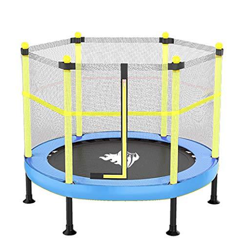YGUOZ Trampolin für Kinder, Indoor Outdoor Trampolin, Trampolin Set mit Sicherheitsnetz, Sprungmatte und Elastic Rope,Blue_48in