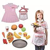 Disfraz de chef para niñas, juego de juguete para niños en la cocina Juego de disfraces de disfraces para chef de niños Set 3-7 años