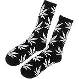 Socken Einmalige Anlage Weed Blatt drucken Unisex Baumwolle hohe Crew Athletische Rasta