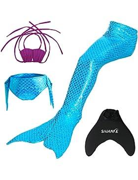 Bañador de Saianke para niña, diseño de sirena