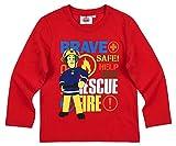 Feuerwehrmann Sam Kollektion 2018 Langarmshirt 92 98 104 110 116 122 128 Shirt Fireman Sam Jungen Neu Top Feuerwehrauto Rot (Rot, 110-116)