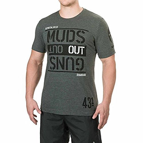 Mens-Reebok-Spartan-Mud-Race-Muds-Out-T-Shirt-Top-Sleeve-Sage