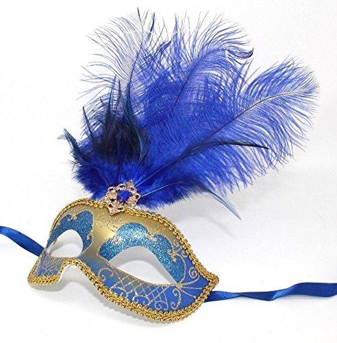 Feder Venezianischen Masquerade Partei Karneval Maske ()