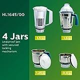 Philips Hl1645 750-watt 3 Jar Vertical Mixer Grinder and Blender Jar with Fruit Filter, Blue