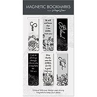 Unbekannt Angelstar schwarz & weiß Schrift Magnetisches Lesezeichen 6er Pack