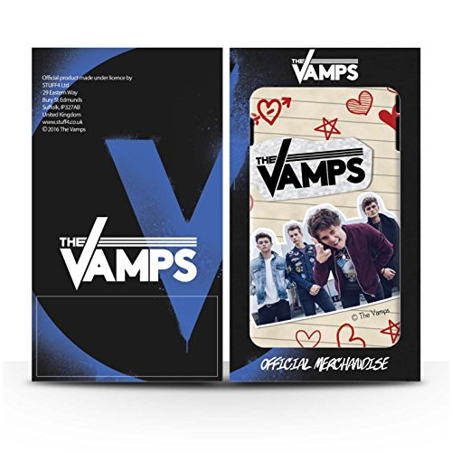 Officiel The Vamps Coque / Etui pour Apple iPhone 7 / Stylo Rouge Design / The Vamps Livre Doodle Collection Stylo Rouge