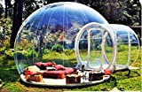Clear New Millennium Bubble Tent 3-4 person includes inflatable pump and repair kit by AD Tents