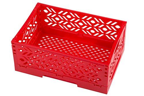 i-Klappbox in rot, perfekt geeignet zum einkaufen, zur Aufbewahrung von Süßigkeiten und für Ihr Osternest, Außenmaße: 23,5x15,5x9,5 cm, 1 Stück (Rot, Osternest)