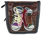 DAVID D. 007 Umhängetasche mit Chucks, crossbag, 25x28x8cm (schwarz)