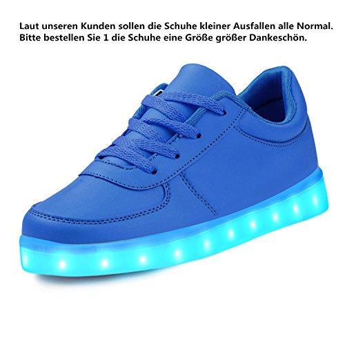 Colori Lekuni Le 7 25 Lampeggianti Scarpe Sneakers Blu Led Unisex Miglioramento 2017 Basse taglia 43 Accendono YqHCTYw