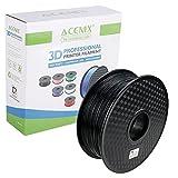 ACENIX® Negro 1.75mm PLA Filamento de impresora 3D Precisión dimensional +/- 0.03 mm 1KG [2.2 LBS] Filamento 3D de carrete para impresoras 3D y bolígrafos 3D