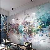 Steaean Papier Peint Mural Abstrait Peinture Décorative Encre Paysage Oiseau TV Peinture Murale Fond 3D Fond D'Écran Peut Être Personnalisé, 300 * 210Cm