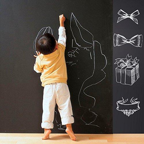 Wandtattoo Kreidetafel Lack–schälen und Stick Tafel Whiteboard Vinyl Tabelle Aufkleber Tapete für Kinder Schule Office Home (Schälen Und Stick-white Board)
