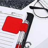 Patzbuch Autocollant Passant à Stylo, Support de Boucle élastique, Style Simple Cuir Pen Holder Crayon Clip de Fixation pour Ordinateurs Portables, revues, calendriers et l'Ordre, Red, Rouge