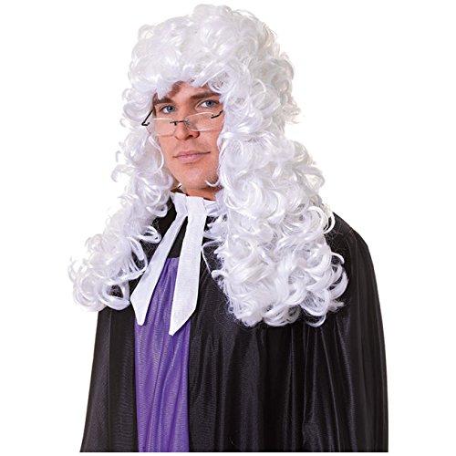 Perücke Anwalt Richter weiß lang gewellt Anwaltsperücke Richterperücke