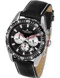 Jacques Lemans Herren-Armbanduhr XL Liverpool Chronograph Quarz Leder 1-1801C