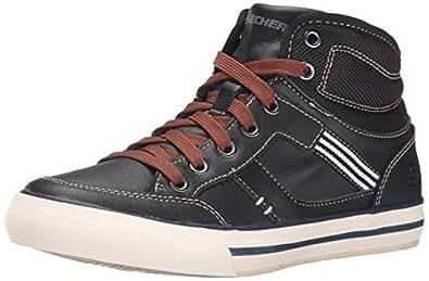 Skechers Planfix Bowen, Sneakers Hautes garçon, Noir, 29 EU (UK child 11.5 Enfant UK)