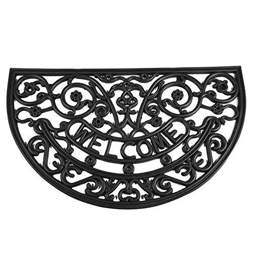 Siena Garden Fußmatte Welcome, Willkommen, Anti-Rutsch-Effekt, schwarz, 45x75cm, 548182