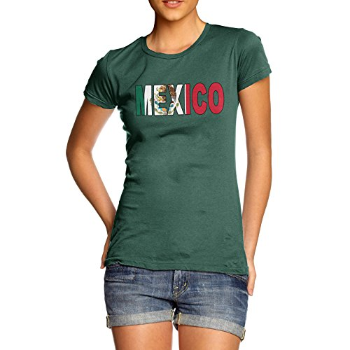 TWISTED ENVY Women's Mexico Flag Football T-Shirt