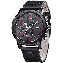 Yvelands Liquidación Relojes Deportivos de Cuarzo para Hombres Calientes Relojes para Hombres Relojes de Cuero de