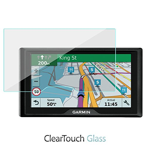 BoxWave Displayschutzfolie für Garmin DriveSmart 60LMT (ClearTouch Glas) 9H gehärtetes Glas für Garmin DriveSmart 60LMT -