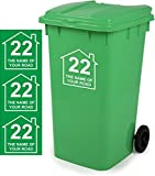 Wheelie Bin Stickers Personalised Signs Size 18cm x 18cm D5 by Magnetic Marketing