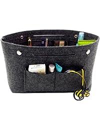 Einsatz Handtasche Tasche Einlage Stoff Multi Pocket Kosmetik Handlich