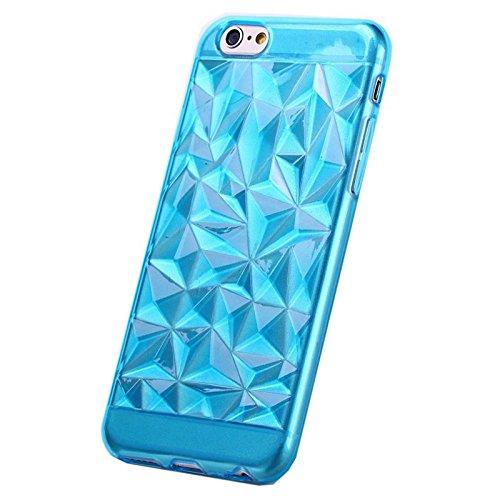 TPU Silikon Cover Diamant Smartphone Hülle Case Bumper Samsung Galaxy iPhone, Farben:Gold;Für Handy Modell:Samsung Galaxy S4 i9500 Blau