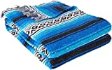 Best Yoga Direct Blankets - YogaDirect Deluxe Mexican Yoga Blanket, Blue Review