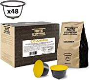 Note d'Espresso Colombia Coffee Capsules Exclusively Compatible with Nescafé* and Dolce Gusto* capsule machines 7g x 48 Caps