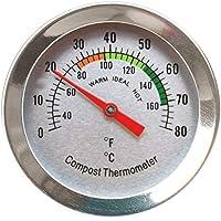 Termómetro de composta – Termómetro de Acero Inoxidable para el hogar y el Patio Trasero –