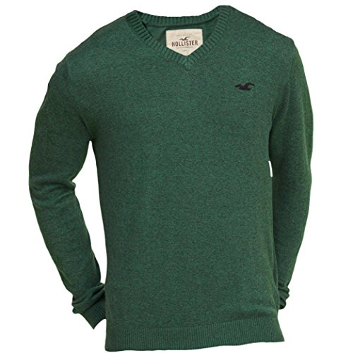 hollister-herren-v-neck-icon-sweater-pullover-grosse-small-grun-624370747
