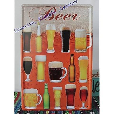 Boccale di birra tin sign ,bar pub parete metallica di arte , Creative boccale di birra decorazioni a parete decorazione casa 30x20cm B11